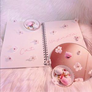 Handmade Cat Magnets (Set of 3) Sakura Pink